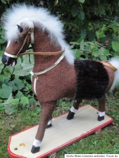 Antique German Rocking Horse 1925 1940 Pull Behind