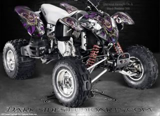 Polaris Predator 500 ATV Graphics The Jesters Grin Red Model Joker