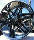 26 INCH RIMS WHEELS TIRES DW19 5X127 JEEP GRAND CHEROKEE IMPALA SS