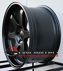ES2 STYLE MATTE BLACK WHEELS RIMS FIT SCION TC 2005 10 XD 2008 12