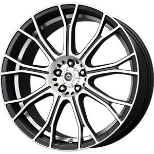 New 16X7 4 100 Konig Swurve Matt Black Mach Undercut Wheels/Rims