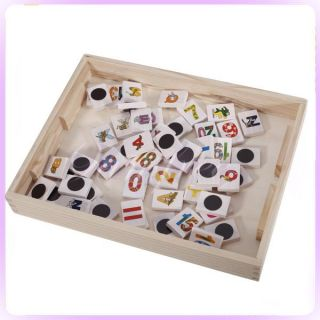 Wooden Alphabet Number Blocks Magnetic whiteboard blackboard