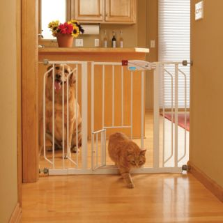Top Paw™ Extra Wide Metal Walk Through Pet Gate   Tension Mounted Gates   Gates