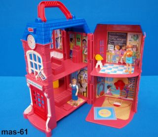 FISHER PRICE SWEET STREETS SCHOOL SCHULE PUPPENHAUS