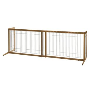 Richell USA Take Eco Friendly Bamboo Freestnding Pet Gate   Dog   Boutique
