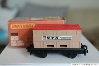 MATCHBOX SUPERFAST * FLAT CAR CONTAINER * OVP