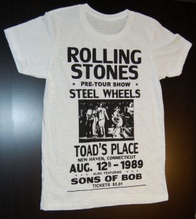 Shirt Rolling Stones   Steel Wheels   Live tour 1989