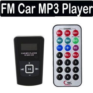 FM Transmitter Car Auto  Player USB Flash Drive SD + RC Remote