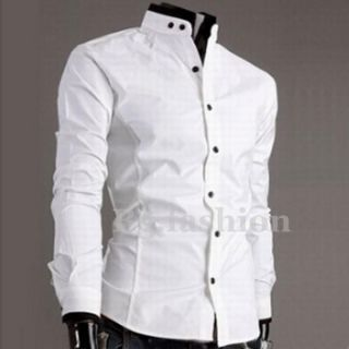 UK Top New Mens Luxury Casual Slim Fit Stylish Collar Dress Shirts