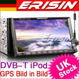 ES738DE 7 2 Din HD Autoradio Car DVD Player GPS Navigationssystem iPod