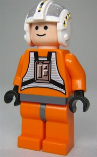 LEGO Star Wars Figur Rebel Pilot Wedge Antilles (aus dem Bausatz 6212