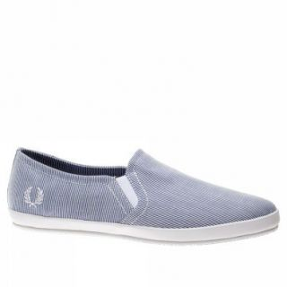 Fred Perry Trainers Shoes Mens Adams Woven Stripe White Shoes