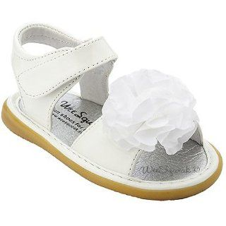 com Wee Squeak Toddler Girls White Peony Sandals 8 Wee Squeak Shoes