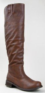 Bamboo YODA 15 Knee High Leatherette Riding Boot Shoes