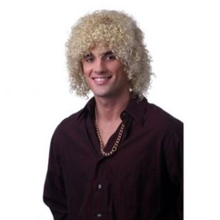 Mens Curly Blonde Lionel Ritchie Halloween Costume Wig
