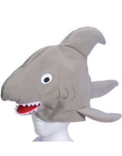 New Huge 24 Stuffed Plush Shark Hat Costume Party Cap