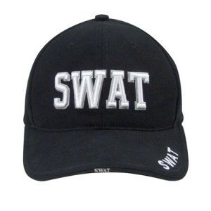 9722 Black Low Profile SWAT Cap Clothing