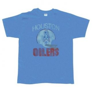 Houston Oilers   Distressed Logo Soft T Shirt   X Large