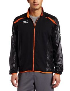Mizuno Unisex Adult MTCI Jacket (Black/Red Orange, X Small