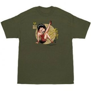 Betty Boop Military Cartoon Pin Up T Shirt Clothing
