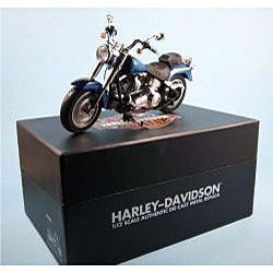 Harley Davidson Fat Boy Black/ Blue Ice Die Cast Motorcycle