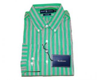 Polo Ralph Lauren Mens Dress Shirt Pony Logo Green 16