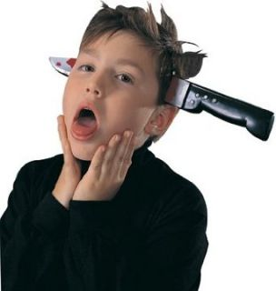 New Costume Weapon Knife Through Head Magic Trick Gag