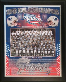 2001 New England Patriots NFL Football Super Bowl 36 XXXVI