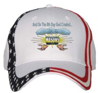 And On The 8th Day God Created MASONS USA Flag Hat