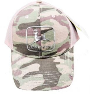 John Deere Pink Camo Liquid Metal Mesh Hat Clothing