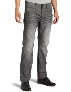 Buffalo by David Bitton Mens Six Straight Leg Jean,Grey