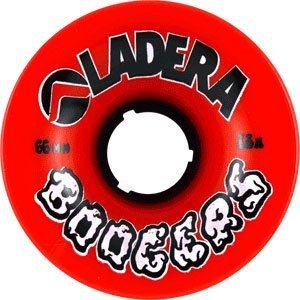 Ladera Boogers 63mm 78a Red Skateboard Wheels (Set Of 4