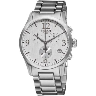 Tissot Mens T Classic White Dial Chronograph Stainless Steel Watch