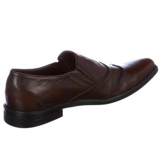 Skechers Backstage Mens Laver Brown Leather Loafers