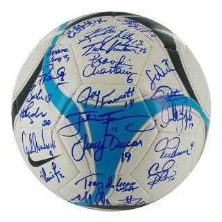 1999 USA Womens Soccer Team Signed Soccer Ball Sports