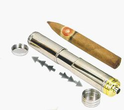 Visol Retractable Stainless Steel Cigar Tube w/ Built in