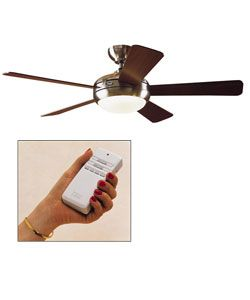 Hunter Palermo 52 inch Ceiling Fan   Brushed Nickel