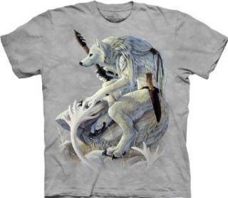 The Mountain Fantasy White Wolf Spirit Mens T shirt