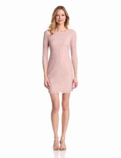 Adrianna Papell Womens Womens Long Sleeve Lace Dress