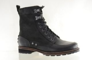 com Columbia Mens Sportswear Slabtown Hi Black Leather Boots Shoes