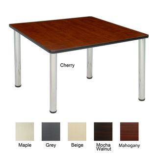 36 inch Square Table with Chrome Post Legs