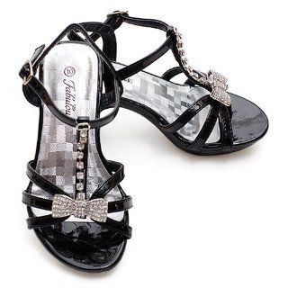 Toddler Girls Black Rhinestone Pageant Shoe 9 Fabulous Shoes