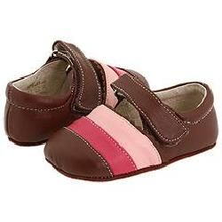 See Kai Run Kids Nora (Infant) Brown/Pink Slip ons