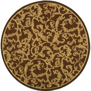 Indoor/ Outdoor Mayaguana Brown/ Natural Rug (6 7 Round)