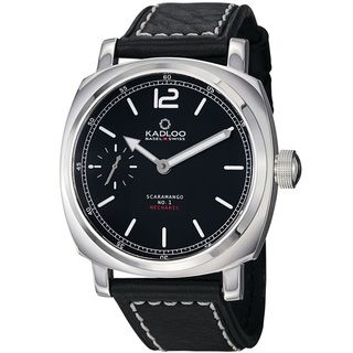 Kadloo Mens Scaramango Black Dial Leather Strap Mechanicial Watch