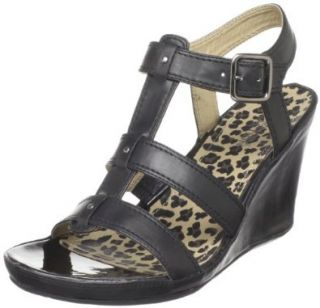 Kenneth Cole REACTION Womens Only Lane T Strap Wedge Sandal Shoes