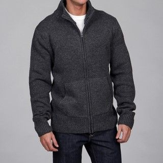 The Fresh Brand Mens Full Zip Wool/Cashmere Blend Sweater