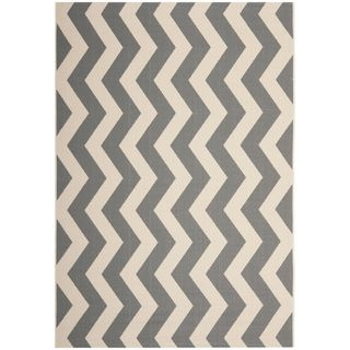 Safavieh Courtyard Grey/ Beige Indoor Outdoor Rug
