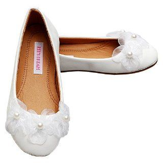 Pearl Leather Ballet Flat Shoes Toddler Girls 6 Kids Dream Shoes