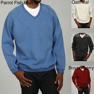 Caribbean Joe Mens Reversible V Neck Sweater